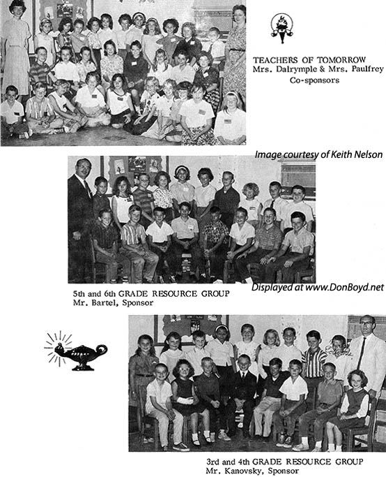 1964 - Teachers of Tomorrow, 5th and 6th Grade Resource Group and 3rd and 4th Grade Resource Group