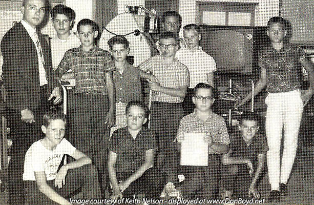 1964 - Mr. Krizenecky and the Audio Visual group at Dr. John G. DuPuis Elementary School, Hialeah
