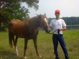 Miami River Rat - Mike Schryer with his horse Lady in 2009