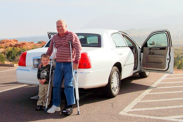 Don Boyd and his grandson Kyler at Garden of the Gods, October 2009