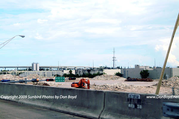 2009 - another landmark in Dade County disappears:  the huge Modernage Furniture Store west of the Golden Glades interchange