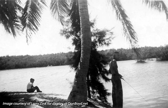 1945  - the first isle at Bakers Haulover on the bay