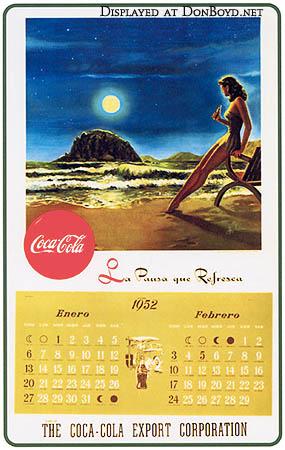 1952 - Coca-Cola calendar in Spanish