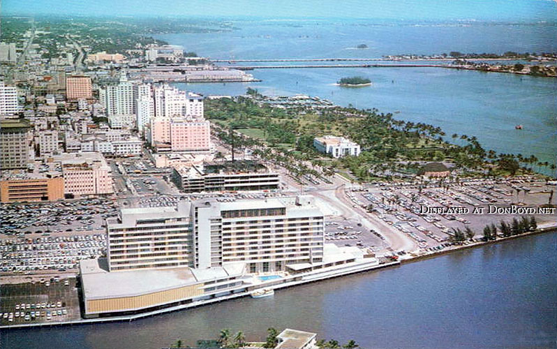 1950s - the Dupont-Tarleton Hotel on the Miami river in downtown Miami
