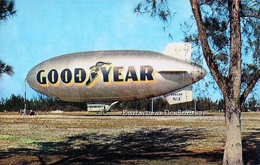 1960 - the Goodyear Blimp L-Ship Ranger N1A on Watson Island, Miami
