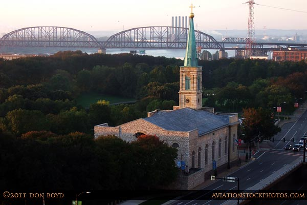 2011 - the Basilica of Saint Louis, King of France, formerly the Cathedral of Saint Louis in the early morning sunlight