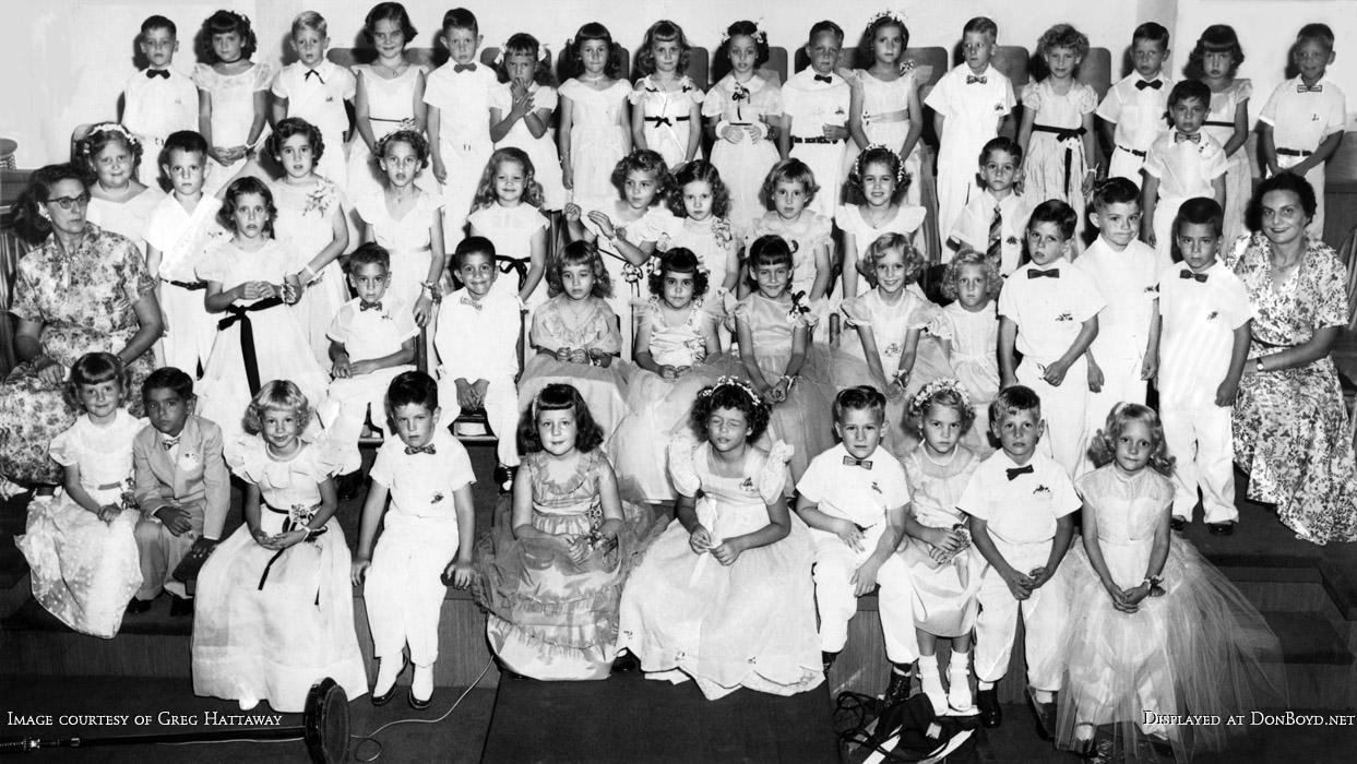 June 1954 - kindergarten graduates from First Baptist Church of Hialeah (many in Hialeah High class of 1966)