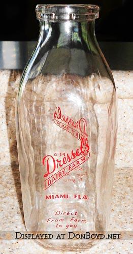 1950s - Dressels Dairy Farm quart milk bottle