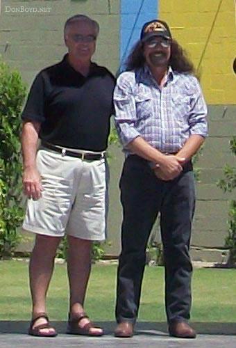 July 2012 - Charles Nike Carter and Arizona Al (Dr. Alan Ogus) in Palm Springs, California