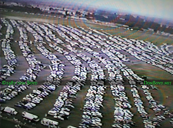 1987- some of the spectator parking at the November Miami Air Show at Opa-locka Airport featuring the Blue Angels
