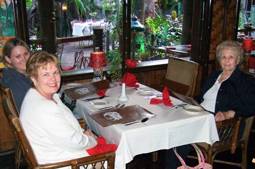 January 2007 - Donna Esther and Karen C. Boyd and Esther Majoros Criswell at the Mai-Kai Restaurant