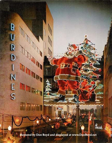 1950s - the Santa display on the Burdines downtown Miami connection