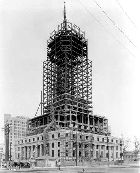 1927 - Dade County Courthouse under construction in downtown Miami