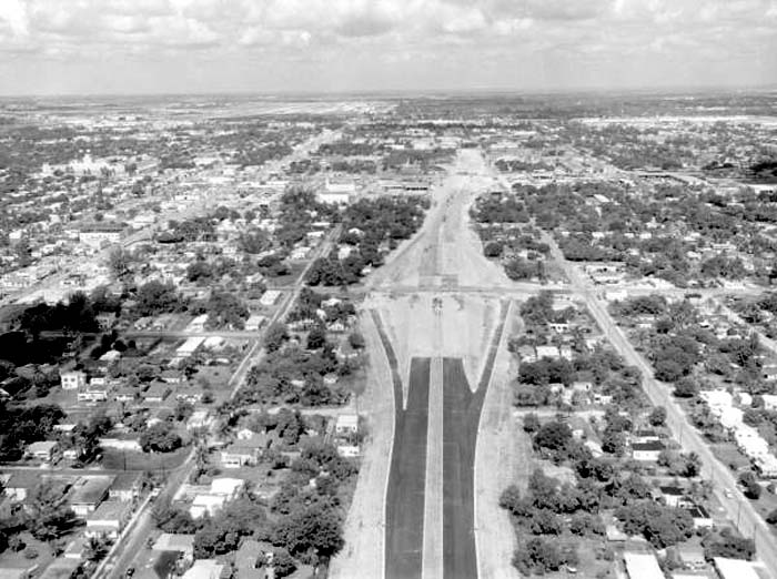 1960 - Florida Highway 25 - 36th Street Tollway (now known as Airport Expressway and SR 112) under construction, Miami