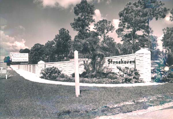 1960 - Hallmarks new Stonehaven development at SW 73rd Avenue and Chapman Field Drive in Dade County