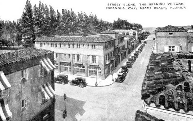 1920 - Spanish Village on Espanola Way, Miami Beach, Florida