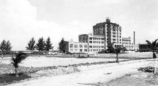 1921 - the Flamingo Hotel under construction on Miami Beach