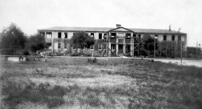 1935 - the boys dormitory under construction at the Kendall Home for Children (aka Dade County Childrens Home)