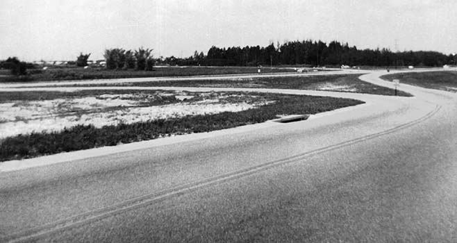 1954 - the Cloverleaf (Golden Glades Interchange) looking southeast at State Road 9