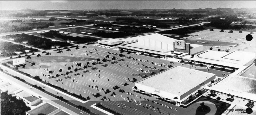 1960 - Artists rendition of the proposed Wometco 163rd Street Theatres, 1245 NE 163 Street, Miami
