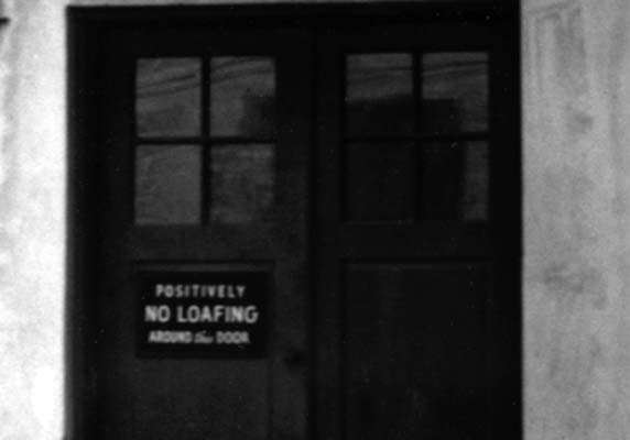 1940s - No Loafing around this door sign on a Miami business & 1940\u0027s - \