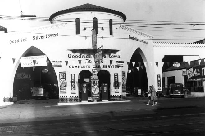 1940s - Goodrich Tire Store on Biscayne Boulevard in Miami  (see comments)