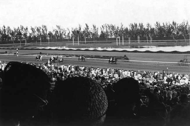 Late 1940s - horse racing at Hialeah Race Track
