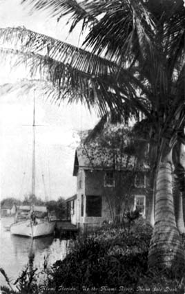 1913 - the Musa Isle Indian Village dock on the Miami River