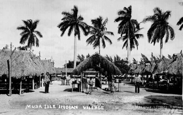 1950 - Musa Isle Indian Village on the Miami River at 27th Avenue, Miami