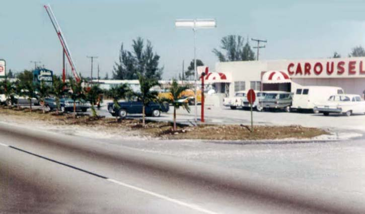 1963 - the Carousel Lounge and Restaurant (later Trader Johns) at 12001 NW 27 Avenue, Dade County