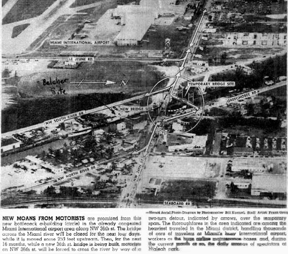 Old Miami Fl: Replacement Of The NW 36 Street Bridge Over The