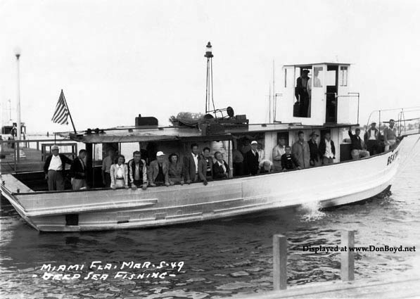 1949 - deep sea fishing boat Beatrice out of Miami