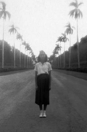 1950 - Brad Kings mom at one of the Hialeah Race Track entrances