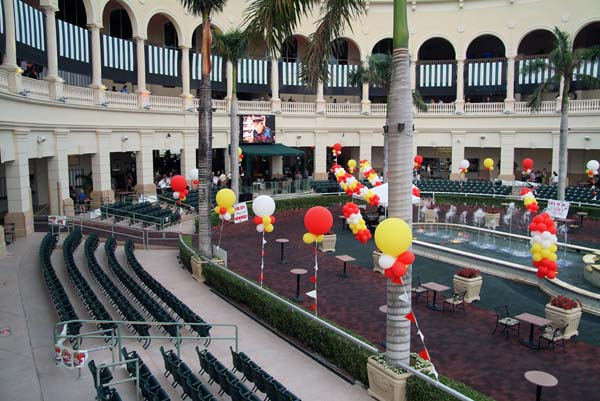 Rick Shaws retirement setting at Gulfstream Park