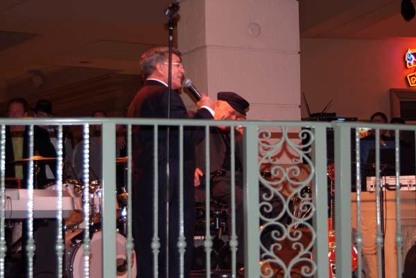 WTVJ (NBC6) newscaster Bob Mayer and Rick Shaw at Ricks retirement party