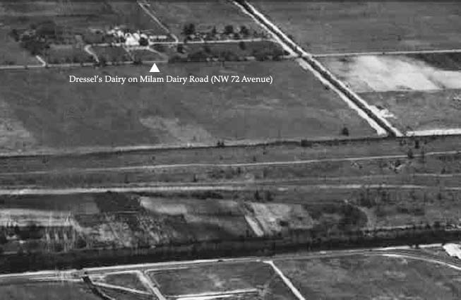 1956 or 1957 - Dressels Dairy Farm (Milam Dairy until 1941) on Milam Dairy Road west of MIA (see comments below)