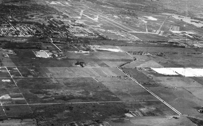 1956 or 1957 - Miami Springs, Virginia Gardens, Dressels Dairy Farm and land west of Miami International Airport