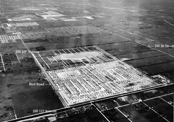 1957 - Aerial view of Bird Road and SW 117 Avenue area