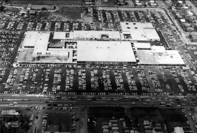 1960 - Northside Shopping Center a month after opening when Sears Northside opened on April 20th