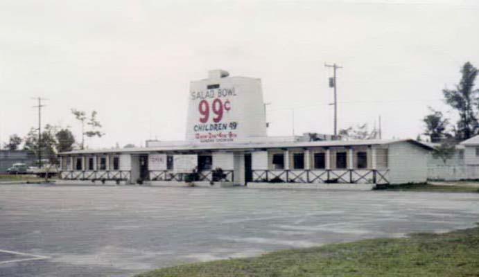 1965 - the Salad Bowl restaurant at 7370 Bird Road, Miami