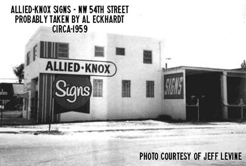 1959 - Allied-Knox Signs on NW 54 Street, Miami