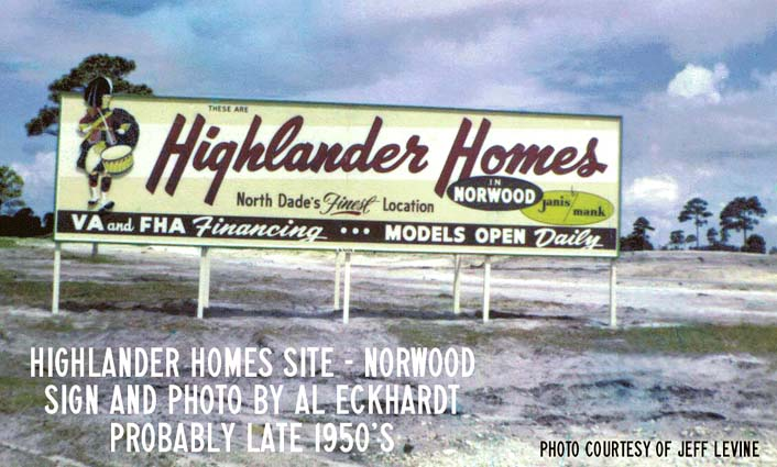 Late 1950s - Highlander Homes in the Norwood section of North Dade County