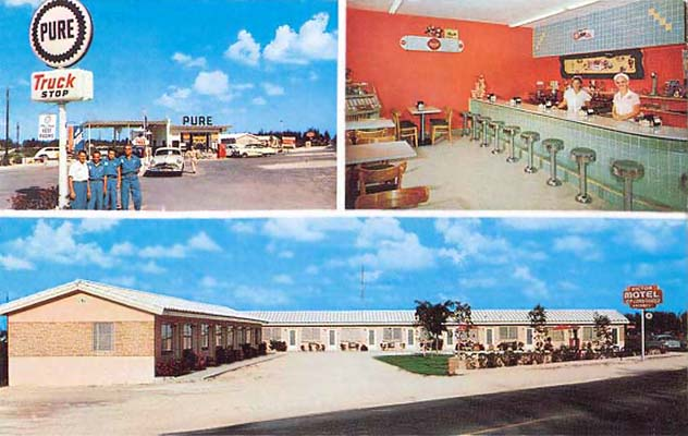 1950s - Pure Oil truck stop, diner and motel on Okeechobee Road and W. 29 Street, Hialeah