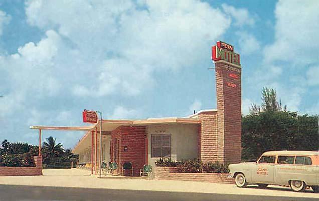 1950s The Penn Motel On Okeechobee Road In Hialeah