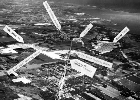 1958 - aerial view of South Miami Heights, Cutler Ridge, Perrine, in Dade County, Florida