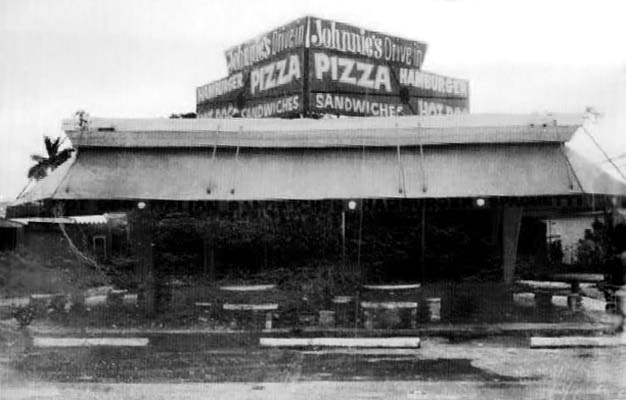 1969 - Johnnies Drive In restaurant, NE 109th Street and Biscayne Boulevard, Miami