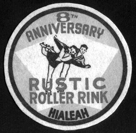 1947 or 1948 - Rustic Roller Rink 8th Anniversay Badge