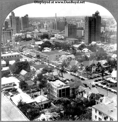 1926 - a view of downtown Miami looking south-south-west from the Miami News Building on Biscayne Boulevard