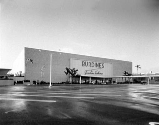 1957 - the north entrance to the Burdines department store at 163rd Street Shopping Center
