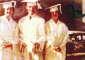 1960 - Mary Perry (Johnson), Joe Perry and Audrey Perry (Lane) at Southwest High Schools graduation
